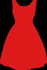 red dress clip art at clkercom vector clip art online