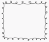 Scribble Border With Whiteback Image
