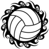 Volleyball Tribal Blk Wht Image