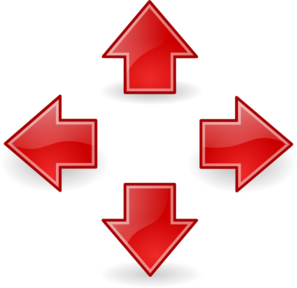 Style Arrows Red Clip Art