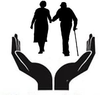 Caring For Elderly Clipart Image