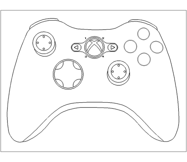 ps4 controller coloring pages