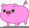 Scared Pig Clipart Image