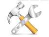 Hammer Wrench Icon Image