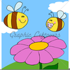 Clipart Of Bees And Flowers Image
