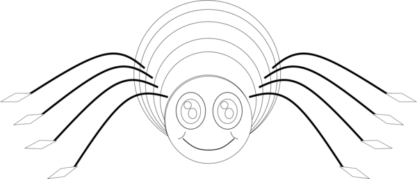 Spider bw free images at vector clip art - Spider outline clip art ...