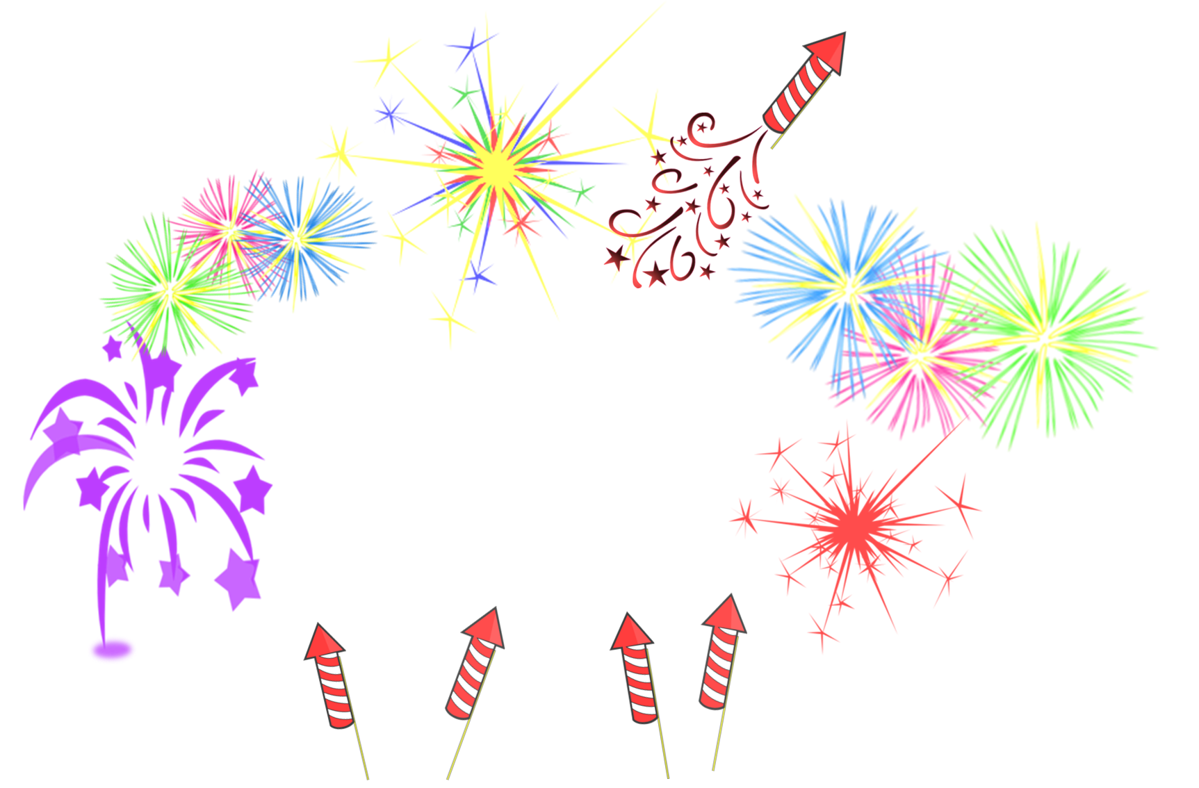 fireworks frame free images at clkercom vector clip