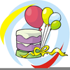 Clipart Birthday Cake And Balloons Image