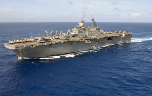 Aerial Photo Of The Amphibious Assault Ship Uss Boxer (lhd 4) Image