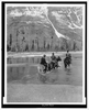 [three Campers On Horseback Cross The Columbia River In Washington] Image