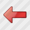 Icon Arrow Left Red 3 Image