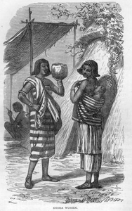 African People Black And White Image