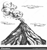 Volcano Clipart Black And White Image