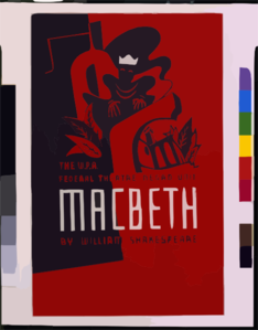 The W.p.a. Federal Theatre Negro Unit [presents] Macbeth By William Shakespeare Clip Art