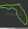 Free Florida Map Clipart Image
