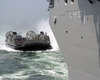 Landing Craft Air Cushion (lcac) Eight Three Assigned To Assault Craft Unit Four (acu-4) Makes Its Approach. Image