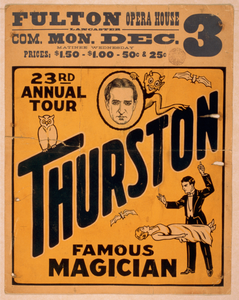 Thurston, Famous Magician 23rd Annual Tour. Image