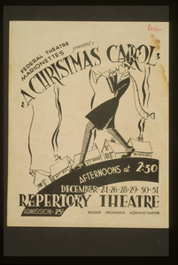 Federal Theatre Marionettes Present  A Christmas Carol  Image