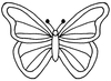 Free Coloring Butterfly Clipart Image
