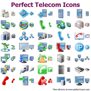 Perfect Telecom Icons Image