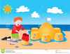 Snowman At The Beach Clipart Image
