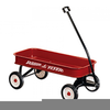 Free Clipart Red Wagon Image