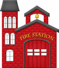 Cartoon Fire Station Image