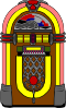 Fifties Jukebox 3 Clip Art