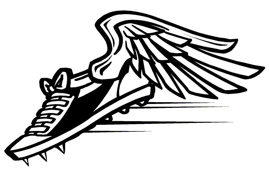 track 1 free images at clker com vector clip art online royalty rh clker com shoe with wings logo company shoe with wings logo name