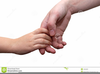 Parent And Child Holding Hands Clipart Image