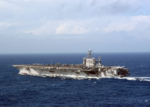 Uss George Washington (cvn 73) Underway In The Atlantic Ocean. Image