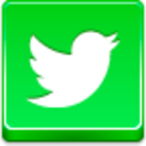 Free Green Button Twitter Bird Image