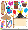 Hawaii Luau Party Clipart Image