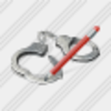 Icon Handcuffs Edit Image