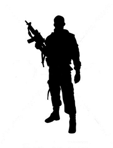 Silhouette Of Soldier Image