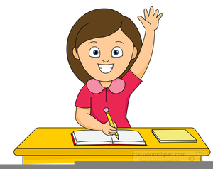 clipart girl raising her hand free images at clker com vector rh clker com raise your hand clipart raise up hand clipart