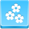 Free Blue Button Icons Flowers Image
