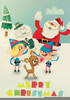 Santa And Rudolph Clipart Image