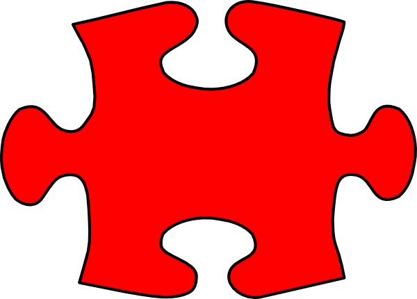 Red Jigsaw Puzzle Piece Large Clip Art at Clker.com ...