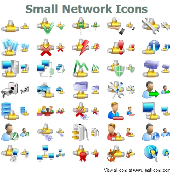 Network Symbols Clip Art : Small network icons free images at clker vector