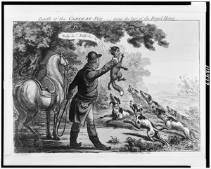 Death Of The Corsican Fox--scene The Last Of The Royal-hunt  / Js. Gillray. Inv & Fect. Image