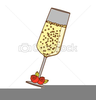 Champagne Glass With Bubbles Clipart Image