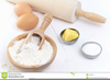 Cake Ingredients Clipart Image