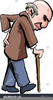 Man With Walking Stick Clipart Image