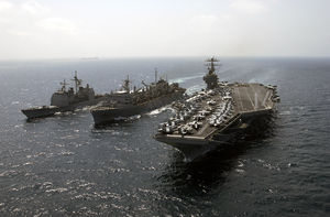 Uss Washington Battle Group Conducts Unrep Image
