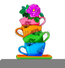 Clipart Of Teacups And Saucers Image