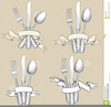Knife Fork And Spoon Clipart Image