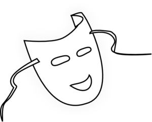Mask Outline Clip Art