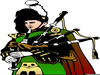 Clipart Bagpipes Cartoon Image