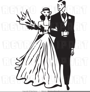 Wedding Clipart Black And White.Black Groom White Bride Clipart Free Images At Clker Com Vector